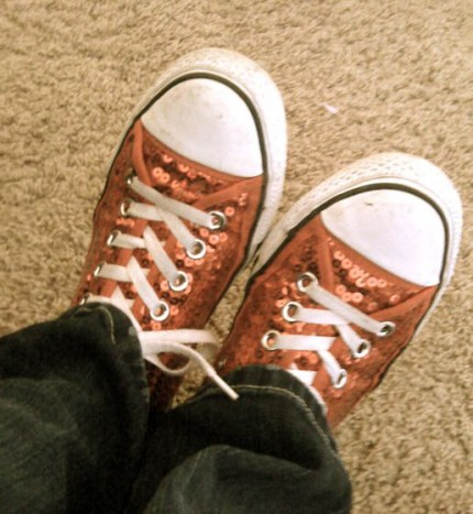 My sparkly Converse