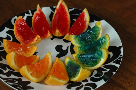 Rainbow gelatin orange wedges: A.K.A. jello, oranges and obsessive ...