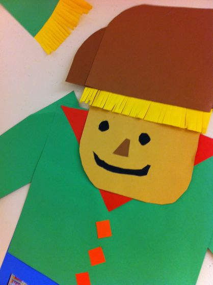 construction paper scarecrow