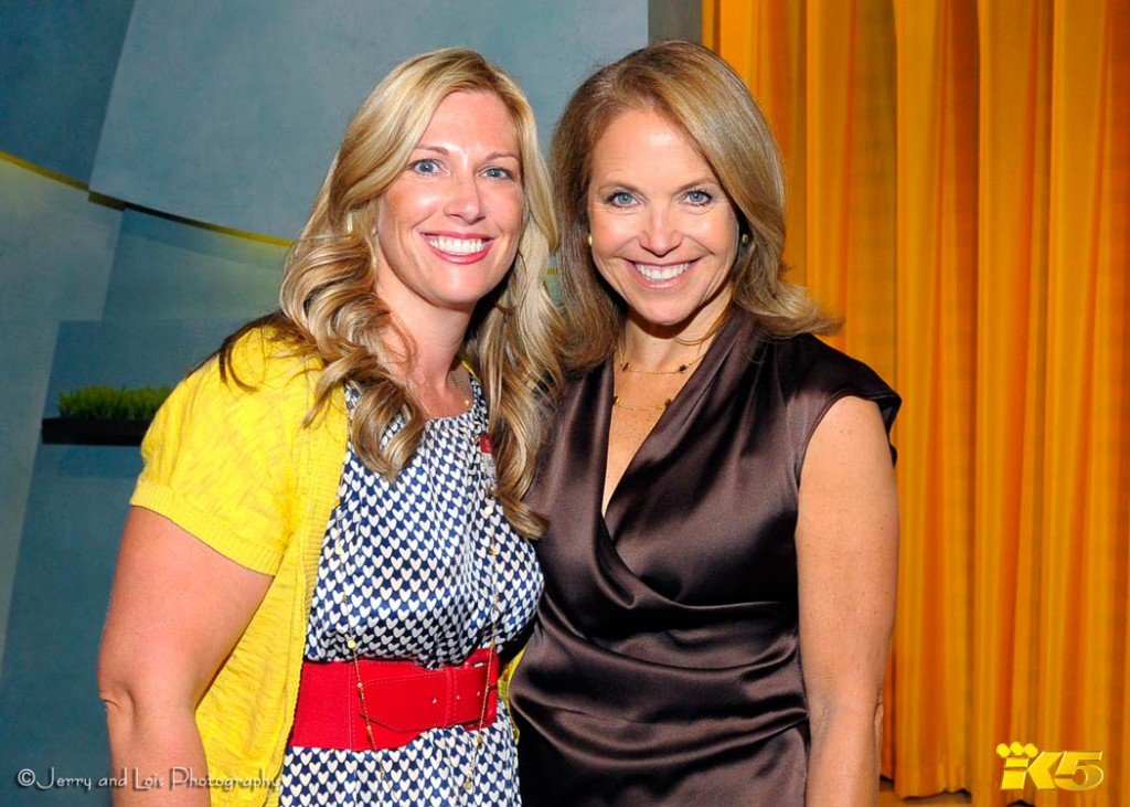 Katie Couric and Jenny Ingram
