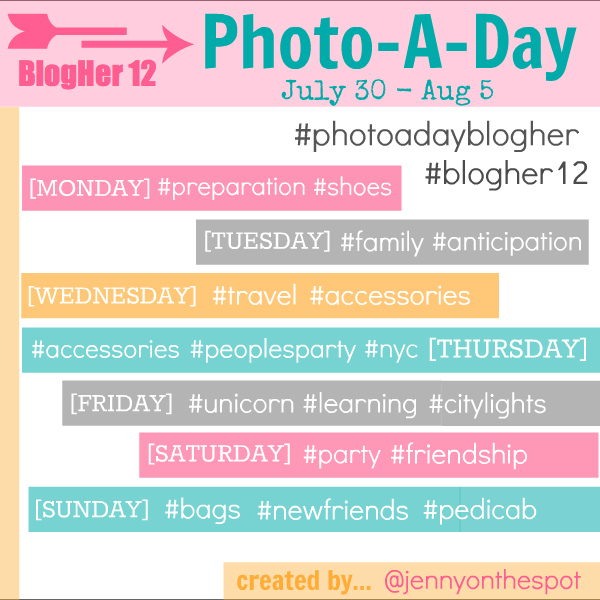 BlogHer12 photoaday by jennyonthespot
