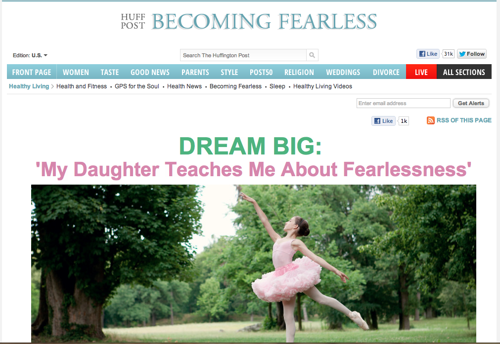 Dreaming Big today on the Huffington Post