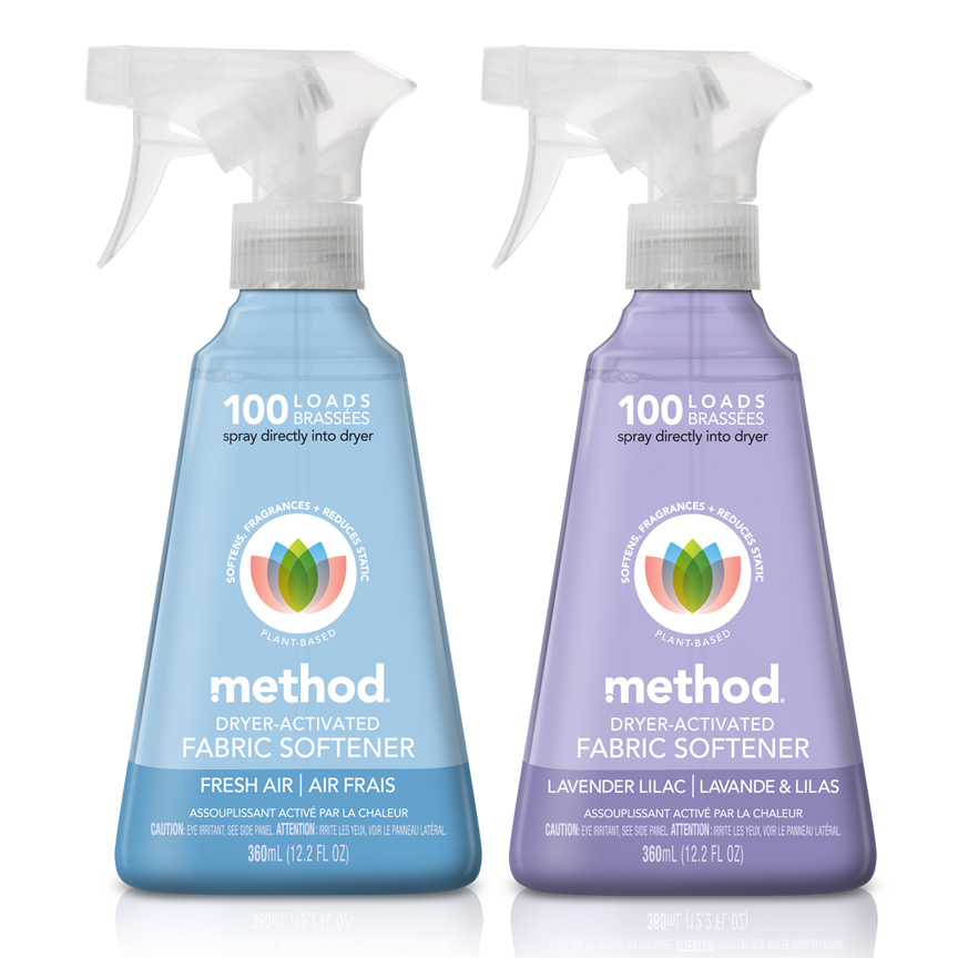 Method dryer-activated fabric softener