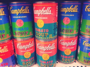 Andy Warhol Campbell Soup cans via @jennyonthespot