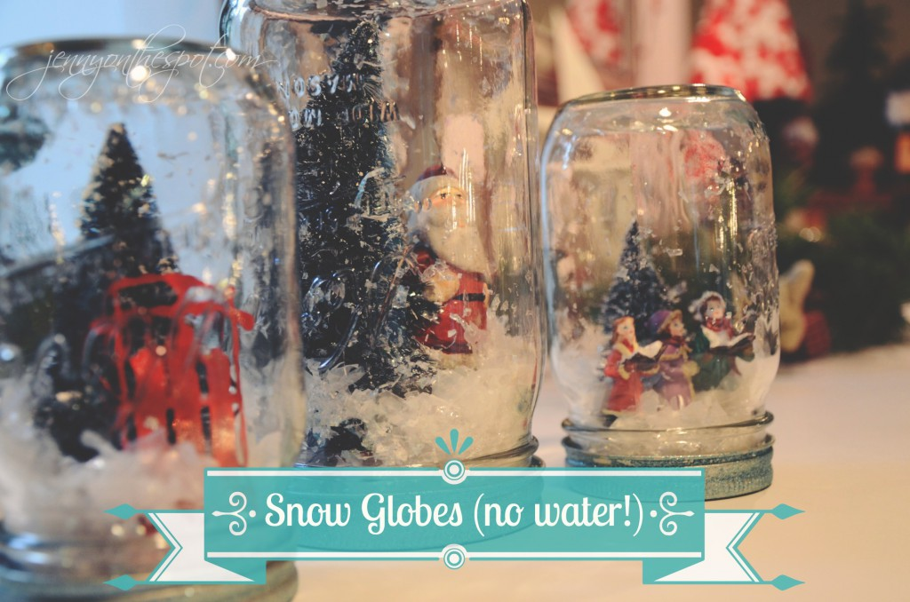 No Water Snow Globes via @jennyonthespot
