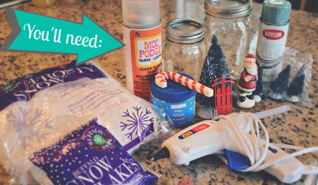 No-water snow globe supplies via @jennyonthespot