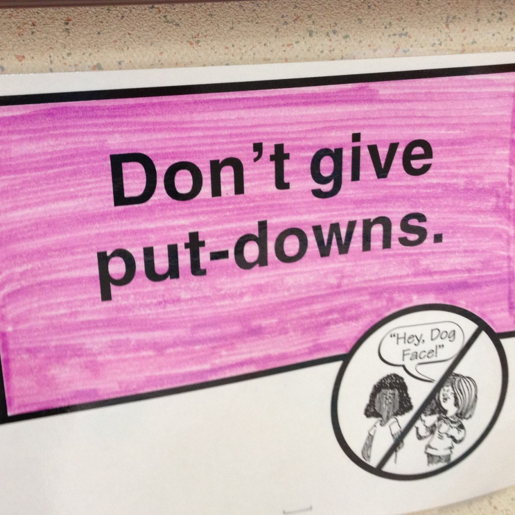 Don't give put-downs via @jennyonthespot