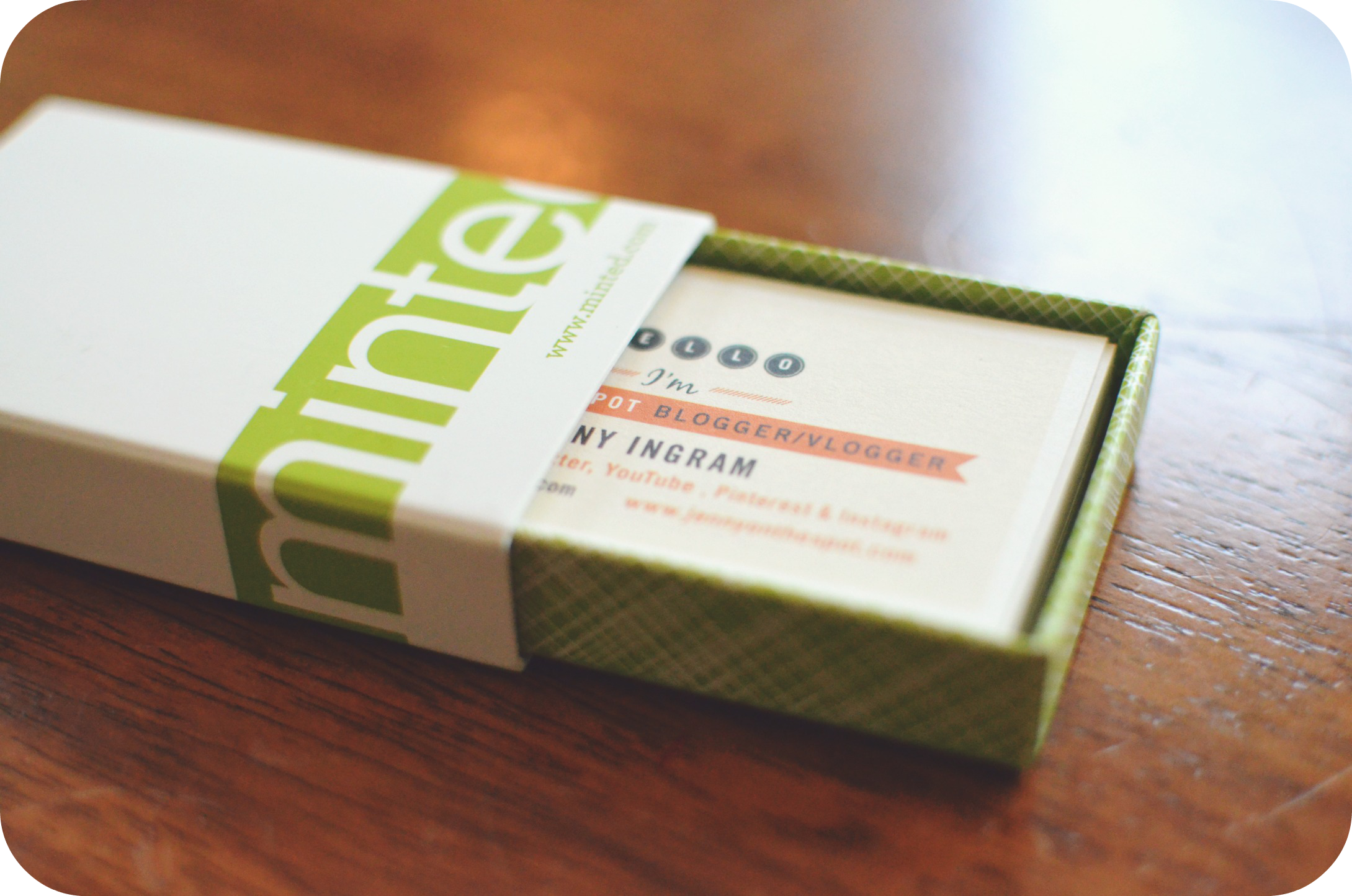 Minted Me = Cool New Business Cards & Personalized Note