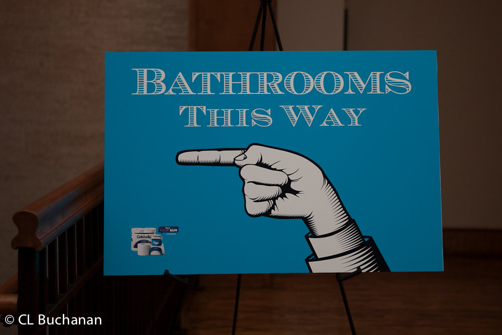 Bathrooms this way...
