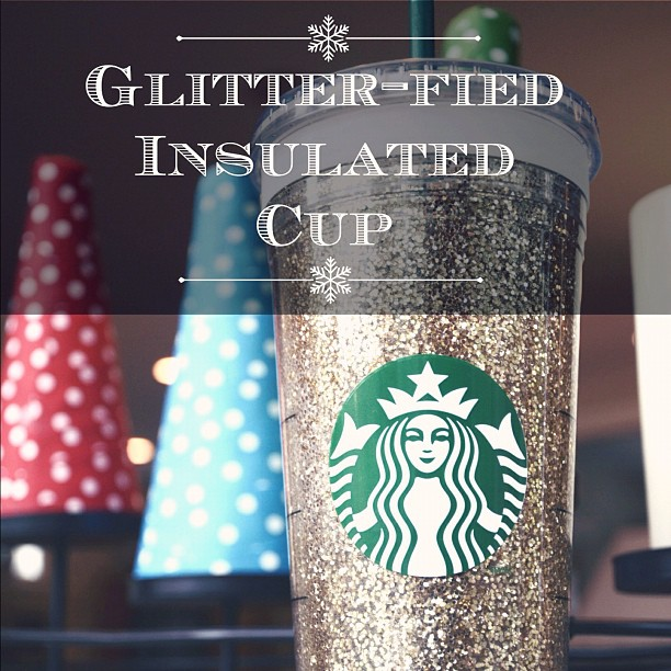 Glitter-fied insulated cold cup