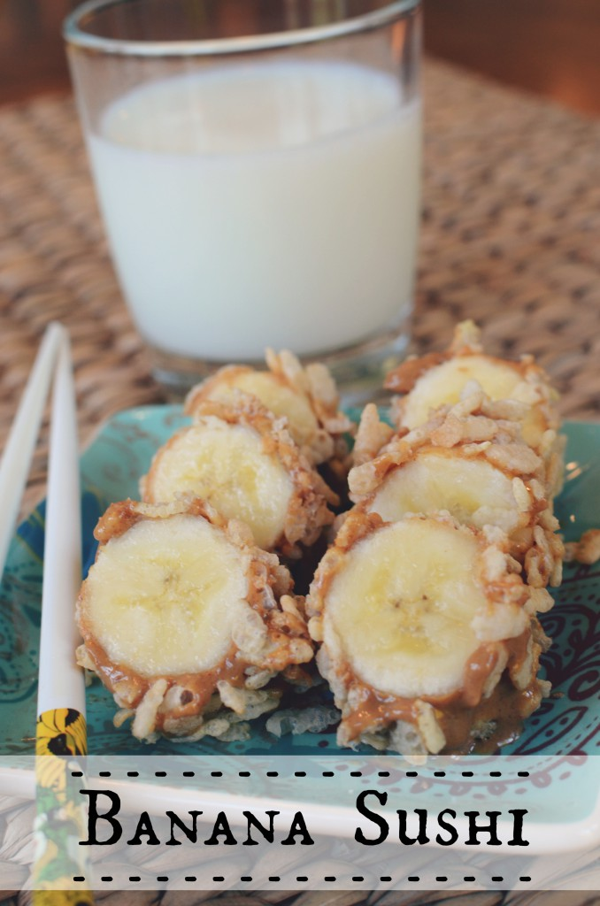 Banana Sushi and ice-cold milk - it's what's for breakfast! Or snack! Or healthy treat before bed! by @jennyonthespot