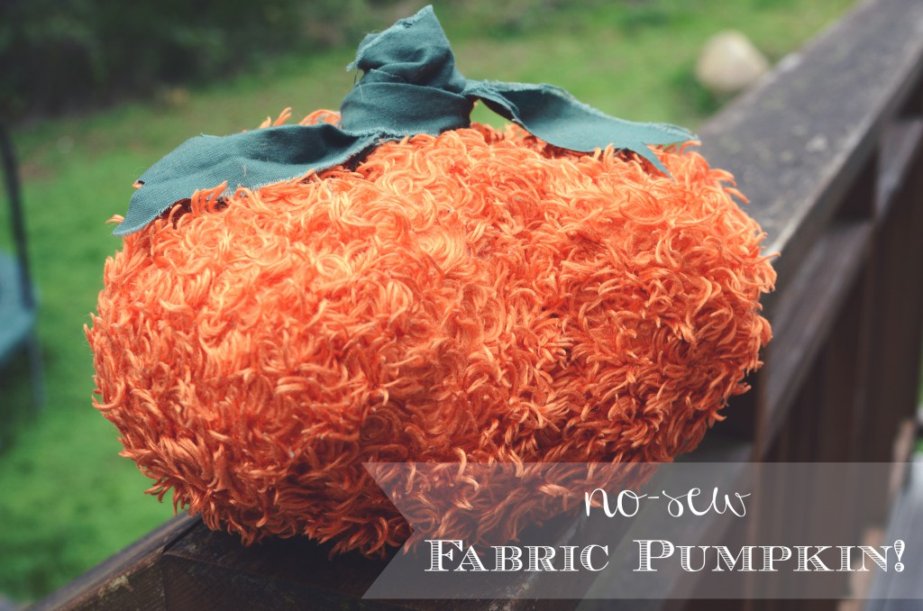 No-sew, thrifted fabric pumpkin by @jennyonthespot