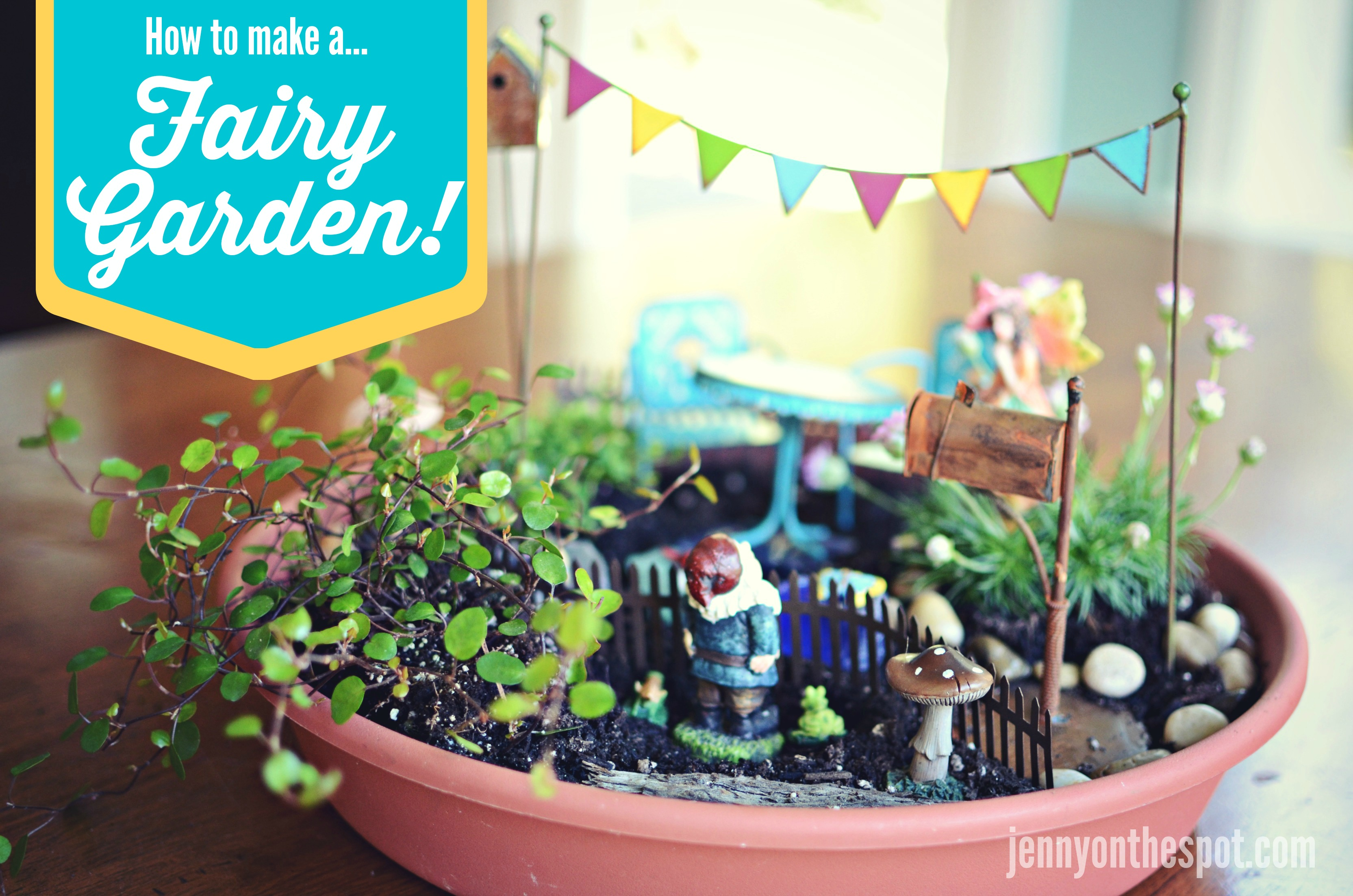 DIY How To Make A Fairy Garden Jenny On the Spot