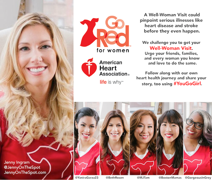 Go Red For Women with the American Heart Association #YouGoGirl