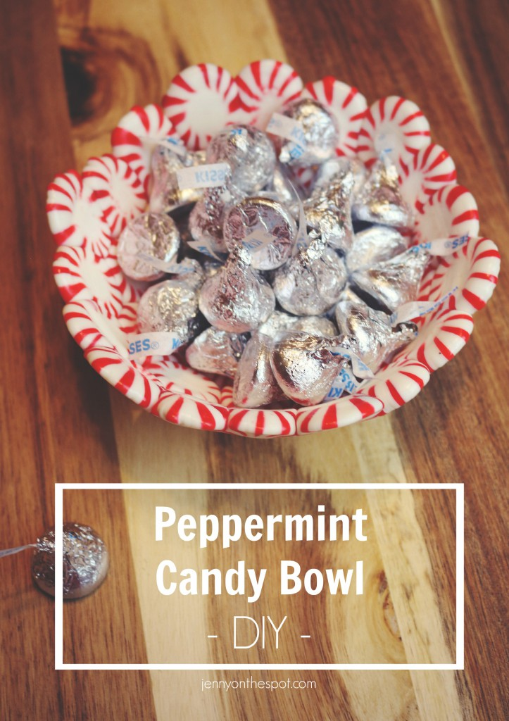 Peppermint Candy Bowl via @jennyonthespot
