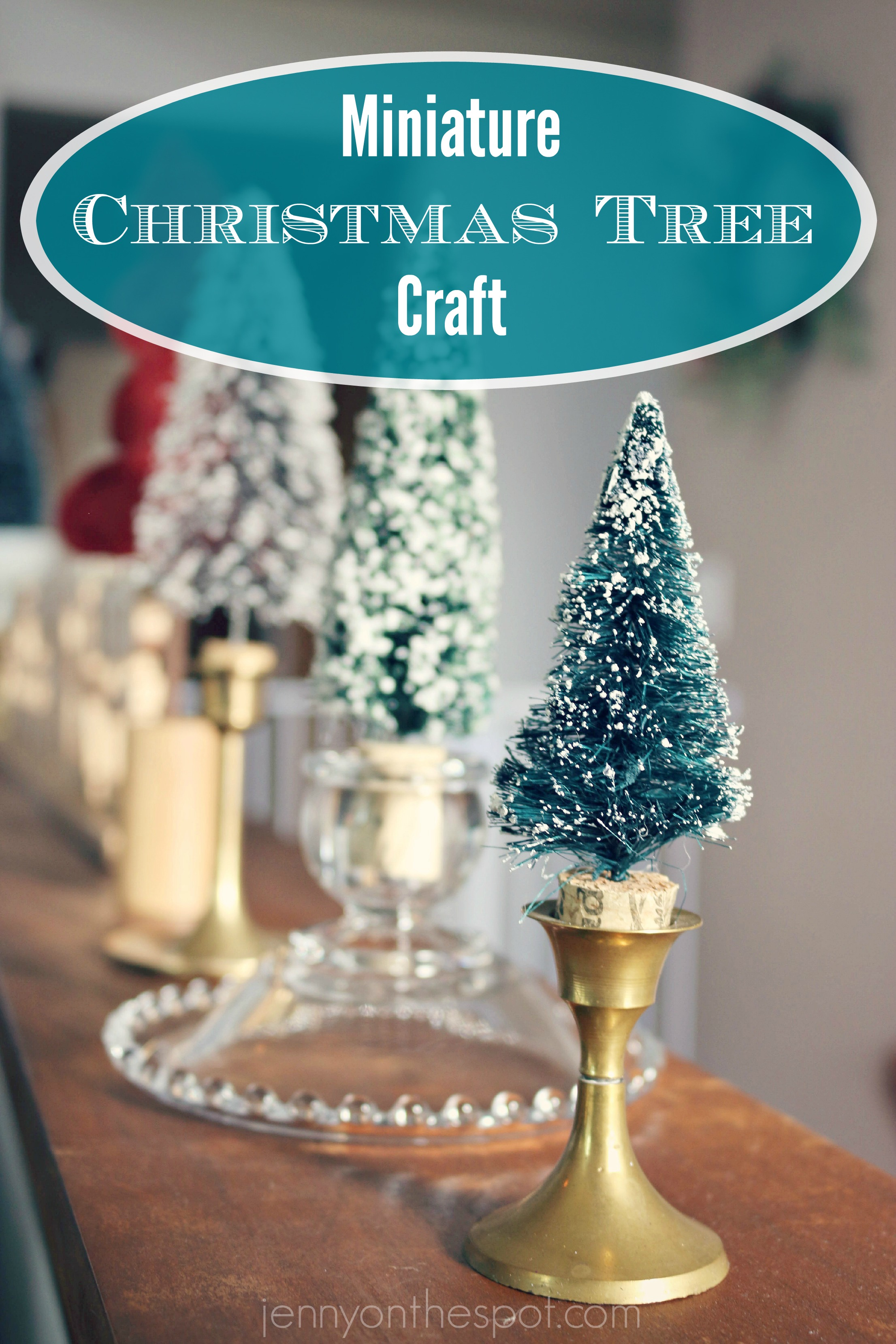 Captivating Miniature Christmas Tree Craft Via @jennyonthespot